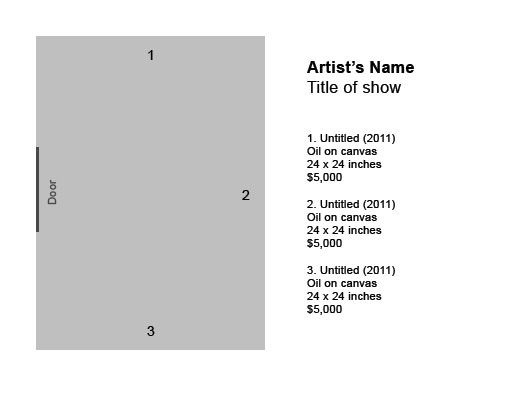 How to label artwork in an exhibition the practical art for Exhibit label template