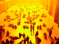 "Visitors view Olafur Eliasson's  ""The Weather Project"" at the Tate Modern"
